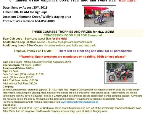 GVMC Chipmunk Trail riders poker ride & kids fun run